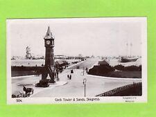 Clock Tower & Sands Helter Skelter Ship Skegness RP pc 1910 Montgomery Ref E546
