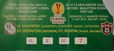 TICKET UEFA el 2014/15 FC Zestafoni-Spartak Trnava