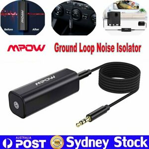 MPOW Ground Loop Noise Isolator 3.5mm Audio Cable for Car System/Home Stereo AUS