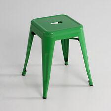 Taburete bajo, metal, color verde