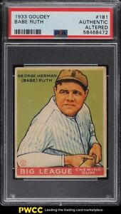 1933 Goudey Babe Ruth #181 PSA AUTH