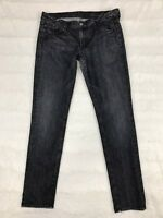 7 For All Mankind Womens Jeans Size 31 Roxanne Skinny Slim Gray