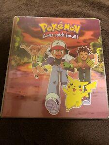 Vintage 1999 Pokemon Binder EMPTY Ash Pikachu Base Set Jungle Fossil Great