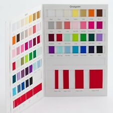 Double Sided Satin / Grosgrain Ribbon COLOUR SWATCH CARD