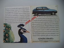 advertising Pubblicità 1982 CITROEN VISA 650