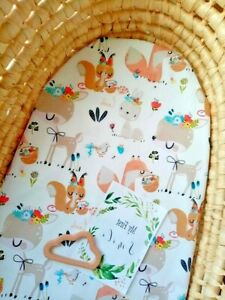 Moses Basket Fitted Sheet .Pure cotton