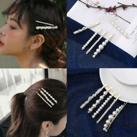 Fashion 5Pcs Women Pearl Hair Clip Hairpin Accessories Snap Barrette Stick