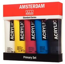 Royal Talens Amsterdam Acrylic Paint Primary Set 5 x 120ml