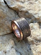 Aztec Mayan Calendar Coin Ring. 1 Oz Handcrafted .999% Copper. Size 9-16.