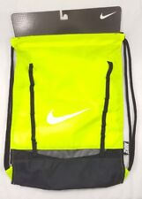Nike Brasilia 7 Sack Pack Tote Drawstring Backpack Yellow New Volt / Black