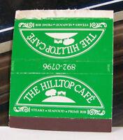 Rare Vintage Matchbook Cover H2 The Hilltop Cafe Steak Seafood Ribs Japan Made