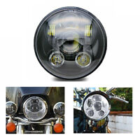 5.75 Inch Motorcycle Round Headlight Projector Lights LED Front Headlight UK
