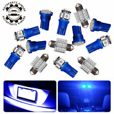 13x Pure Blue LED Interior Package Kit Map Dome Lights T10 & 30mm Festoon Bulbs