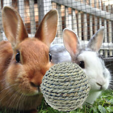 2pcs Pet Chew Play Natural Straw Ball For Rabbit Woven Straw Pig Teeth Toys #HD3