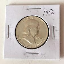 1952 FRANKLIN HALF DOLLAR US SILVER COIN Lot 49P