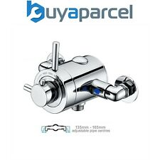 Thermostatic Concentric Exposed Shower Mixer Valve - 135mm to 165mm Centres