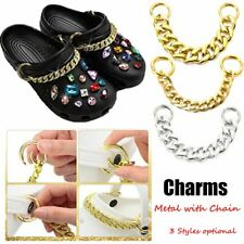 Shoes Clog Sandals Decorative Metal Chains for Shoes Charm Metal with Chain