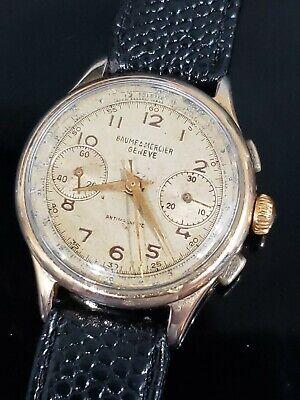 Vintage Baume & Mercier Geneve Chronograph Mens 34mm Manual Mechanical Watch