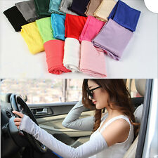 Hot Women Girl Warm Arm Warmer Cotton Long Fingerless Gloves Party Gift bw