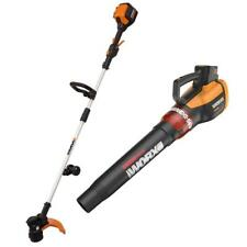 WG926 WORX 56V Lithium Combo:Grass Trimmer/Edger, TURBINE Leaf Blower included!