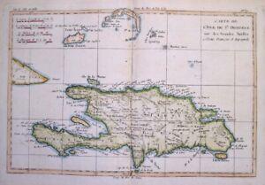1781 Bonne Map of Hispaniola, Santo Domingo