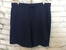 Coral Bay Navy Blue Golf Shorts Size 14 Women's Swing Stretch
