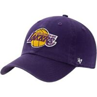 Los Angeles Lakers '47 Clean Up Adjustable Hat - Purple