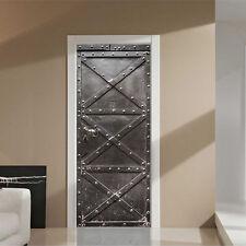 Iron Gate 3D Wall Sticker Decal Art Decor PVC Home Room Door Walls paper Mural