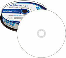 100 MediaRange BD-R DL 50GB 6x Blu-ray Rohlinge Bedruckbar printable Spindel