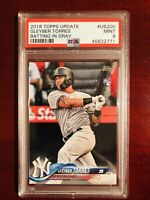 GLEYBER TORRES 2018 Topps Update US200 SSP Batting in Gray RC Rookie Card PSA 9