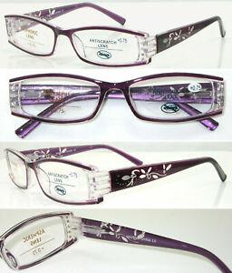 +400 +450 +550 Ladies Reading Glasses / Spring Hinges / Fashion Diamante Detail