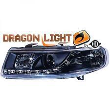 LHD Faros Proyectores PAR LED DRAGON CLARO negro para Seat Toledo León 99-04
