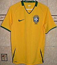 BRASIL BRAZIL NIKE NATIONAL YELLOW SOCCER TEAM 2008/09 JERSEY SMALL SIZE