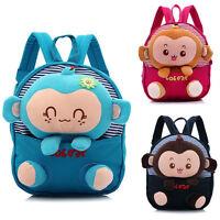New Kids Boys Girls Animal Backpack Monkey School Bag Rucksack Children Backpack
