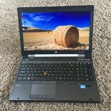 HP EliteBook 8570w Core i7-3820QM QUAD/32/500GB SSD Webcam FirePro Gaming Laptop