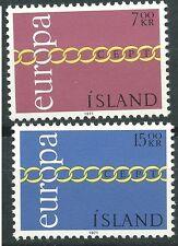 ISLANDIA EUROPA cept 1971 Sin Fijasellos MNH
