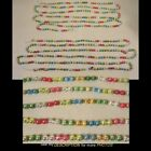 Antique Victorian Mercury Glass Round Beaded Christmas Tree Garland 100in