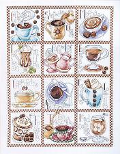 Cross Stitch Kit ~ Design Works Coffe Break Latte Assortment Sampler #DW2597