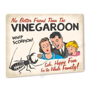 Funny VInegaroon SIGN for Terrarium or Cage Whip Scorpion Black Arachnid