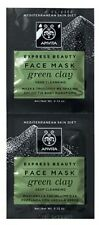 APIVITA EXPRESS BEAUTY DEEP CLEANSING FACE MASK WITH GREEN CLAY, OILY SKIN 2x8ml