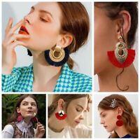 Bohemia Summer Women's Jewelry Boho Ear Stud Dangle Drop Fringe Tassel Earrings