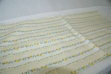 Vtg Ivory Blue Yellow Tiny Floral Print Cotton Pillowcase Fabric L-3 yds W-28""