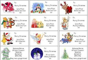 24 Personalised Christmas Stickers/Labels Handmade By / Address / Wrapping Party
