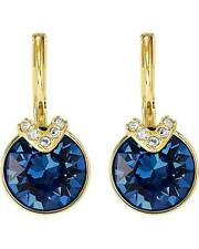 Swarovski 5498875 BELLA V PIERCED EARRINGS, BLUE, Authentic , NIB