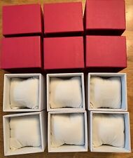 "6pcs WATCH BOX CASE RED  3.5"" X 3"""