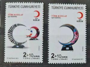 Briefmarken Türkei 2019 - rotes Kreuz - roter Halbmond - Mi 4526 ~ 4527 - Satz**