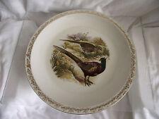 Plat rond porcelaine de Limoges Haviland decor chasse faisan  gibier  dorure