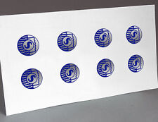 BLUE SHURE LOGO MICROPHONE, 8 REPLACEMENT DECALS