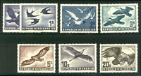 AUSTRIA #C54-60 Mint NH - 1950-53 Birds Set