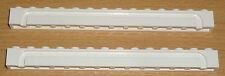 Lego 2 Steine 1 x 14 mit Rinne in weiß